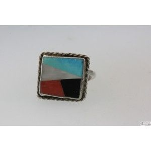 Sterling SIlver Multi-Color turqoise Ring