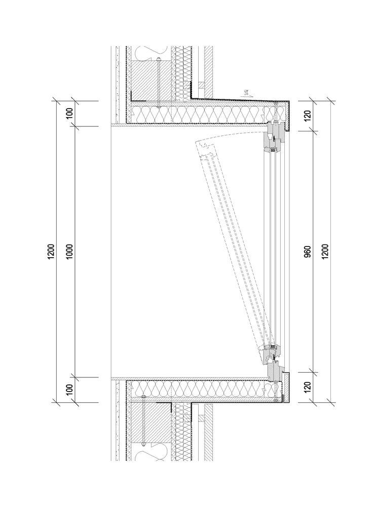 Gardening center / Architekti DRNH detail erker bowwindow doorsnede