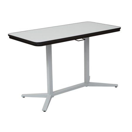 Office Star Pneumatic Height Adjustable Table with White Dry-Erase Table Top, Multiple Colors