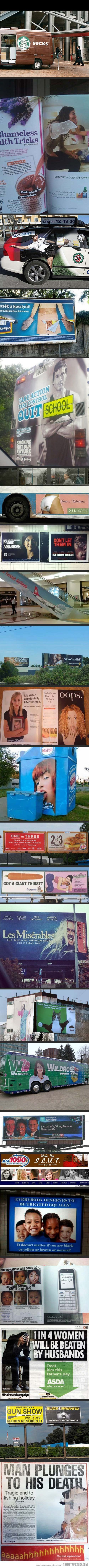 23 unfortunate advertising placements lol