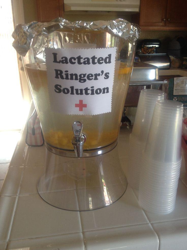 Nursing graduation party. IV fluids. Lactated ringers solution.