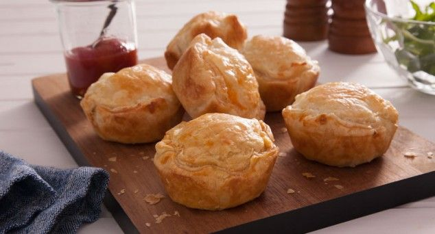 Mmm...creamy Chicken & Mushroom Pies are always a hit with the family!  #australian #familyfavourite #recipe