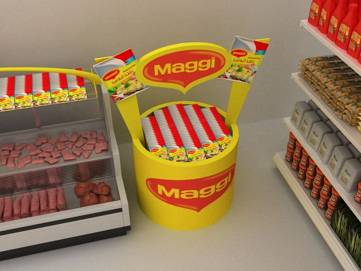 internal branding for maggi new products in the supermarkets