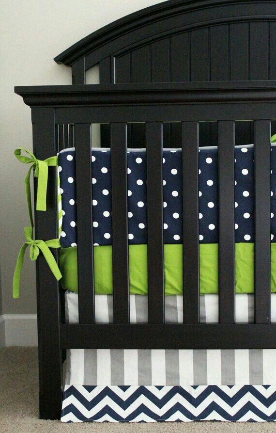 Navy blue, white and green!