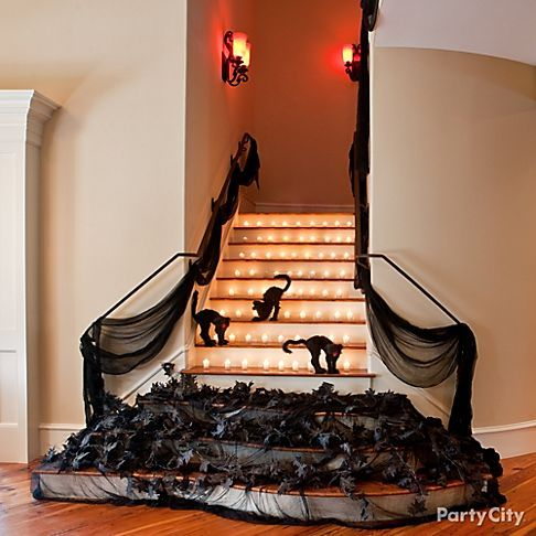 Very clever way to keep ghoulish guests on the ground floor! #halloweenparty: Holiday, Halloween Decorations, Ghoulish Guests, Halloween Party Ideas, Fun Halloween, Halloween Ideas