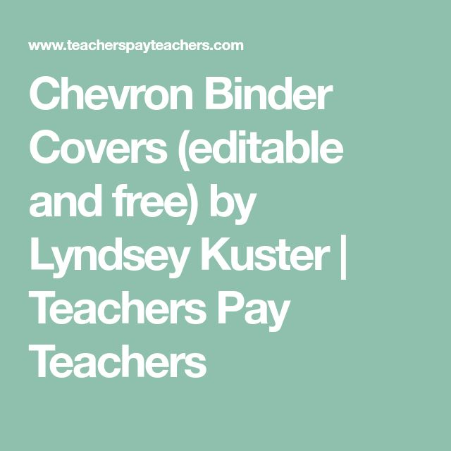 Chevron Binder Covers (editable and free) by Lyndsey Kuster | Teachers Pay Teachers