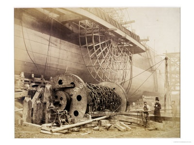 "Isambard Kingdom Brunel Beside the ""Great Eastern,"" circa 1857"