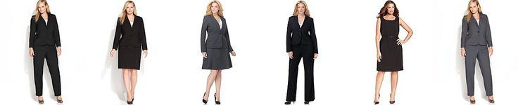 Calvin Klein Plus Size Suit Separates Collection