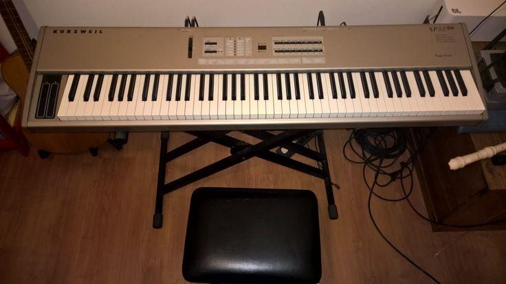 Stage Piano Kurzweil SP88x, 88 teclas con peso piano, mas pedal de sustain, piso, atril (doble x) y funda