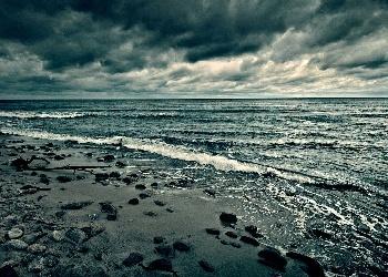 The Baltic Sea in Sarbinowo, Poland
