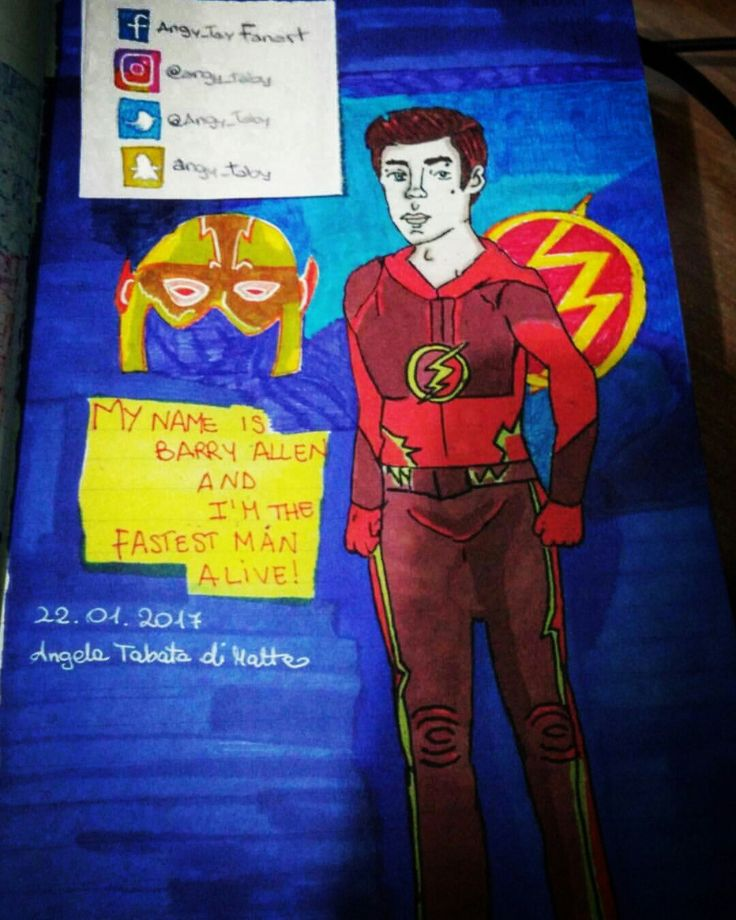My name is Barry Allen and i am the fastest man alive! #illustration #fanart #portrait #drawing #barryallen #grantgustin