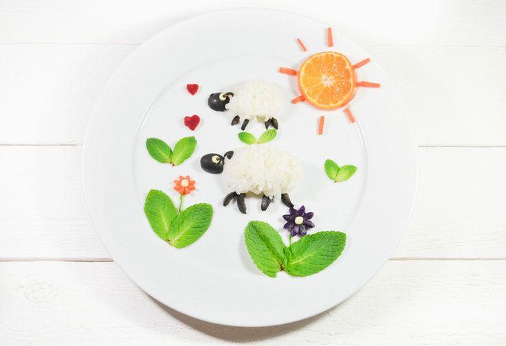 walking Olive and rice sheep  #foodart #yearofthesheep
