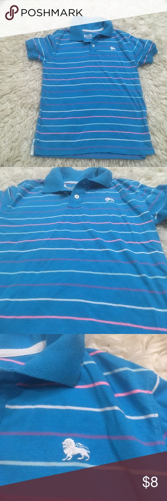 Boys blue polo shirt with pink stripes Stylish little boy's shirt, old navy Old Navy Shirts & Tops Polos