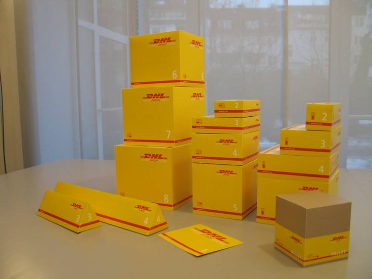 Dhl Boxes Package Ideas Branding Design Packaging