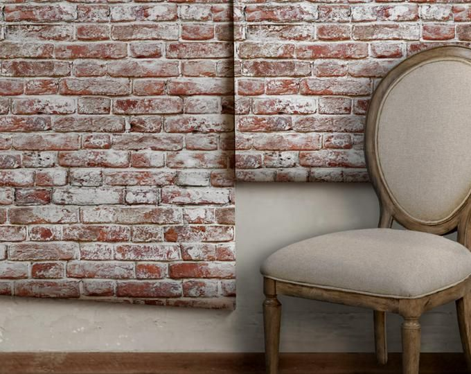 Etsy Your Place To Buy And Sell All Things Handmade Faux Brick Wallpaper Removable Brick Wallpaper Antique Brick