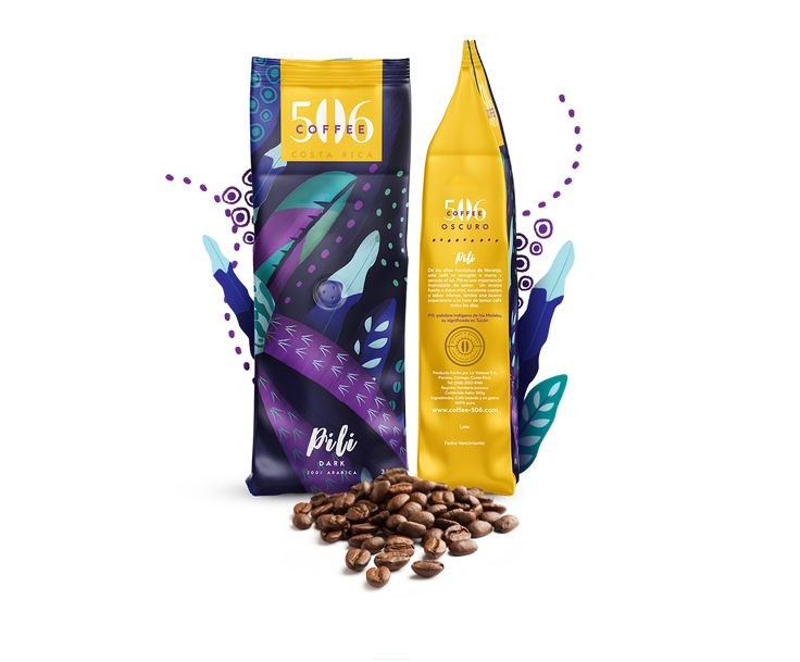 Branded Packaging Design for Vibrant Costa Rica Coffee Brand / World Brand & Packaging Design Society