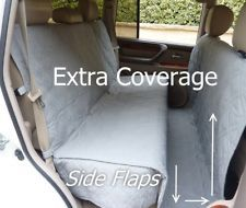 Deluxe Quilted and Padded Car Seat Cover For Dog Pet Extra Length Coverage. Gray