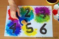 Como hacer numeros artesanales para jugar pintando