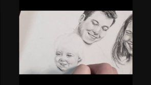 Family portrait drawing | www.drawing-made-easy.com | #portrait #family