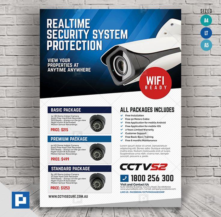 CCTV Surveillance Camera Flyer - PSDPixel