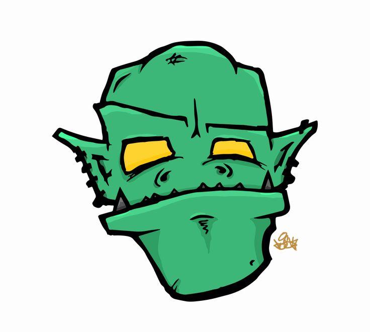 Goblin. Cartoon head series