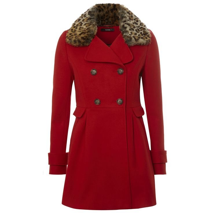 We love this @georgeatasda red coat with leopard print trim, £30 - how would you style it?