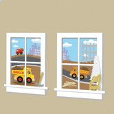 Found it at Wayfair - Construction Junction Peel and Stick Window Wall Decal