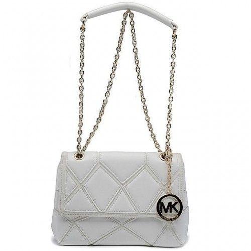 Michael Kors Sloan Large White Shoulder Bags