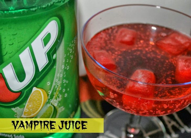 "Looking for Halloween drink recipes to serve at your party this year? ""Vampire Juice"" only has 2 ingredients and is fun for little ones, too #shop #SpookyCelebration"