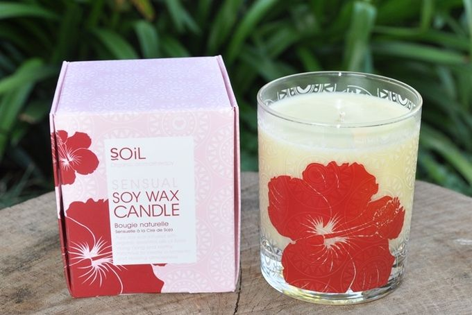 Sensual Hibiscus Soy Wax Candle by Organic Choice
