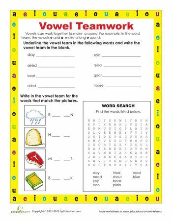 Worksheets Vowel Teams Worksheets 17 best images about vowel teams on pinterest chips ahoy long worksheets teams