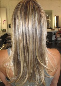 Sandy blonde with highlights