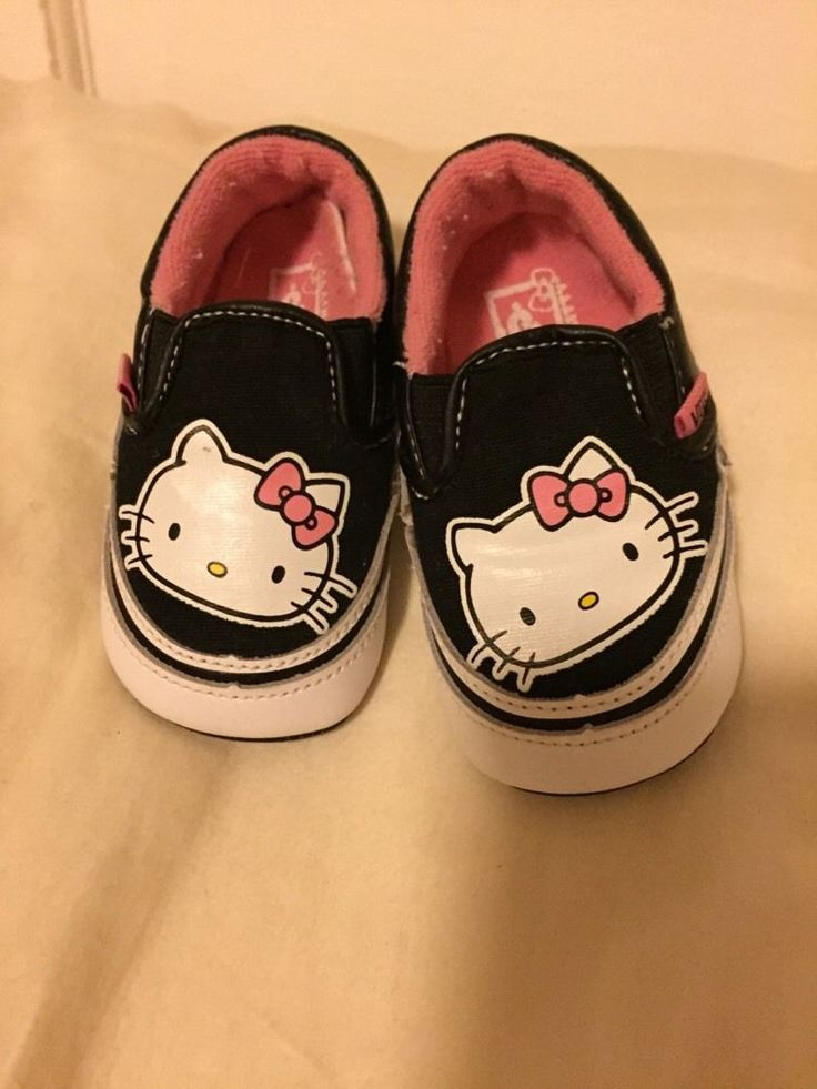vans hello kitty baby girls shoes size 1 crib shoes adorable infant canvas shoe from $3.25