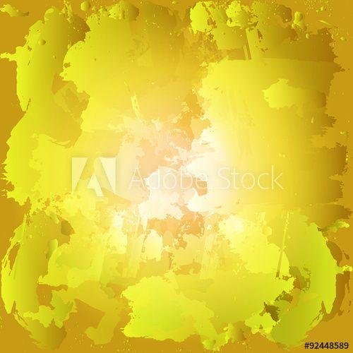 Красочные краски масляные пятна. Блоб акварельной росписью. Желтый и О'