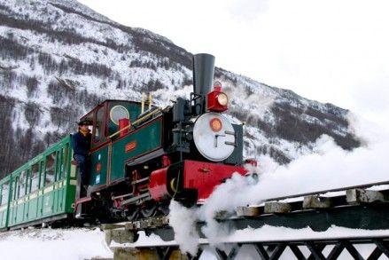 « tren del fin del mundo » Ushuaia, Tierra del Fuego, Argentina.