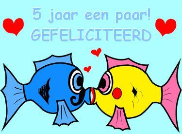 leuke 5 jaar getrouwd felicitatie plaatjes op leukeplaatjesz.nl