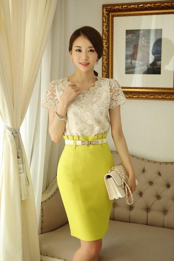 Mais de 1000 ideias sobre estilos de moda coreana no - Modelos de faldas de moda ...