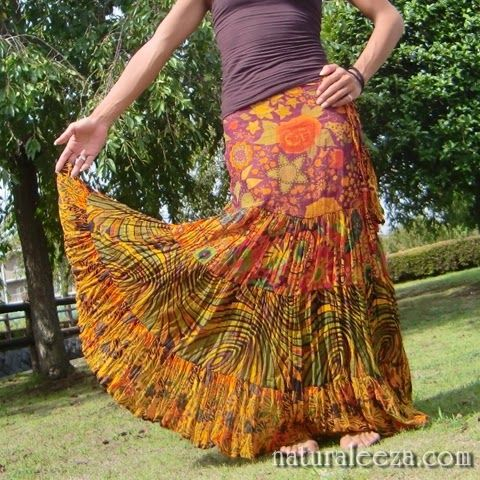 ★pick up★summer maxi skirt #fashion #maxi #ethnic #psychedelic #colors