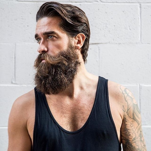 Beard Style for men. Nice beard but the instructions on this site are not good. You dont comb out a wet beard and if you're growing a longer beard you don't trim it every 3-4 days. As for shaping balm, oil and mustache wax with a hair dryer and a good comb and bush will accomplish that,  beard on!