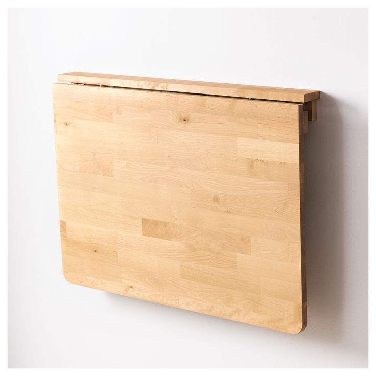 Mesa plegable pared para comer insp office pinterest - Fabriquer table murale rabattable ...