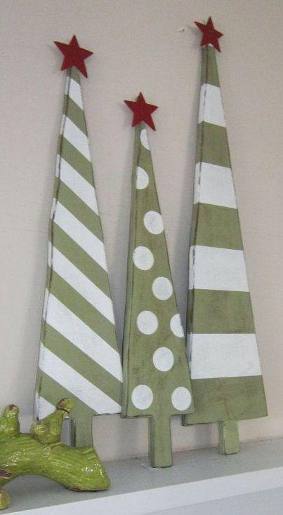 WOODEN TREES https://www.etsy.com/listing/169763346/set-of-3-jade-green-white-christmas?ref=unav_listing-other