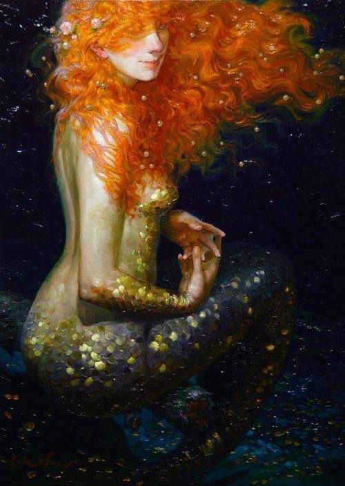 ♒ Mermaids Among Us ♒ art photography paintings of sea sirens water maidens - Victor Nizovtsev
