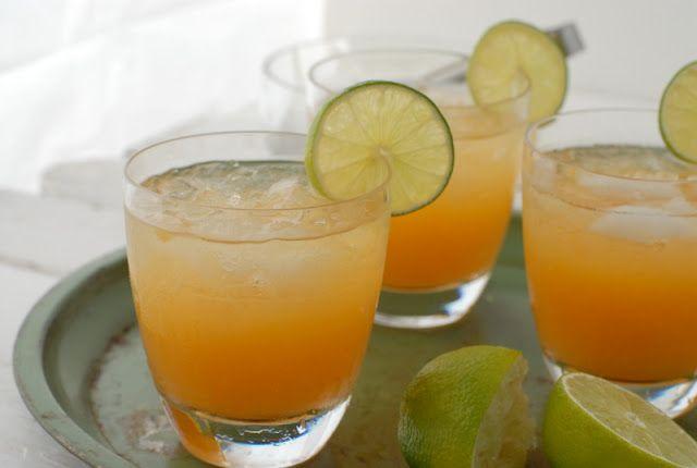 Fresh Peach Margarita and Fresh Peach Spritzer (non-alcoholic ...