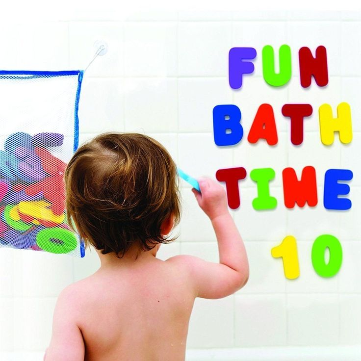 Bath Toys Storage Large Mesh Bag 36 Foam Alphabet Numbers Baby Toddlers Kids Toy