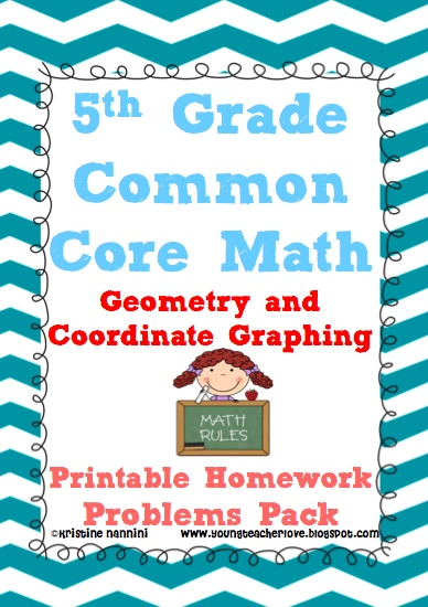 Common Core Math Geometry and Coordinate Graphing- over 100 problems WITH ANSWER KEYS!! Actual coordinate graphs in problems so students can plot points!! Perfect for spiral review, morning work, homework and more!!