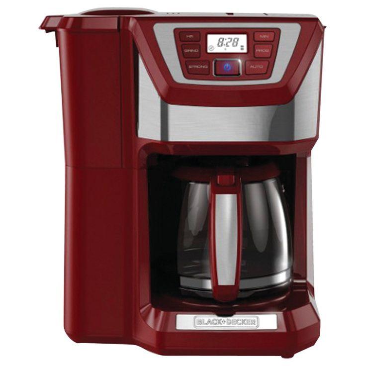 Black decker 12cup mill brew coffee maker red