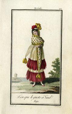 Resultado de imagen de falda maja goyesca