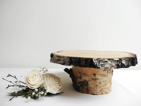 Birch Stand Wooden Stand Pedestal Cake Stand by DaliasWoodland