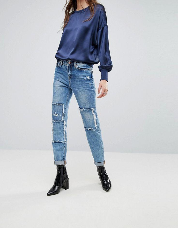 Noisy May Kim Loose Boyfriend Jeans - Blue