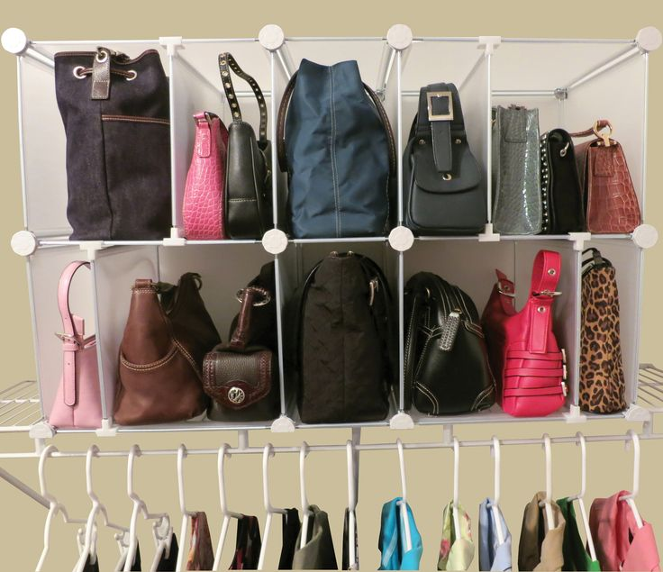 Perfect Keep Your Purses Stored And Organized In The Hallway Or Closet Shelving  Withu2026